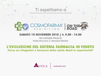 Cosmofarma On The Road 2018: Viola e i digi-alleati nelle farmacie della salute